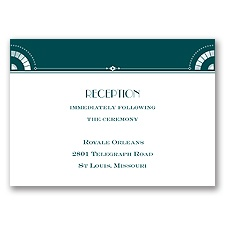 City Ritz - Reception Card