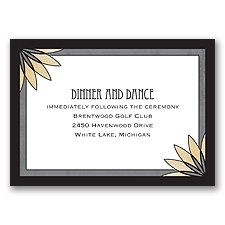 Deco Garden - Black - Reception Card
