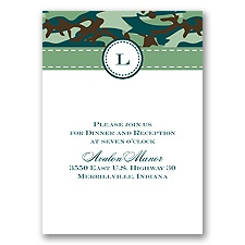 Camo Cutie - Reception Card