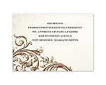Vintage Ivory - Reception Card