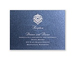 Luminous Lace - Sapphire Shimmer - Reception Card