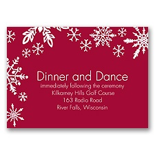 Snowflake Melody - Reception Card