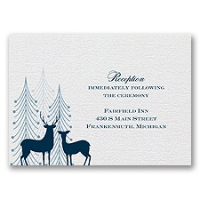 Winter Majesty - Reception Card