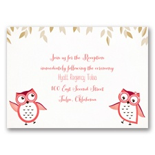 Owl You Need is Love  - Guava - Reception Card