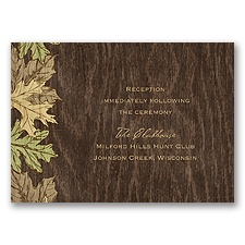 Woodland Bliss - Reception Card