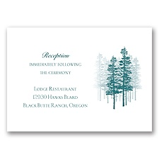 Hidden Forest - Reception Card