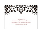 Romance - Chocolate Reception Card