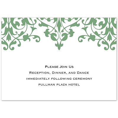 Romance - Clover Reception Card