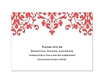 Romance - Guava Reception Card