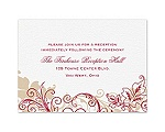 Flourish with Golden Shadow - Apple - Reception Card