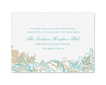 Flourish with Golden Shadow - Pool - Reception Card