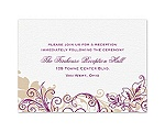 Flourish with Golden Shadow - Sangria - Reception Card
