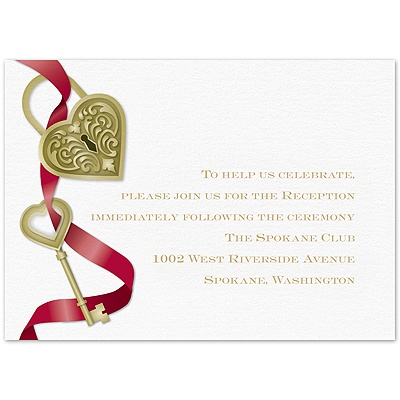 Key To My Heart - Apple - Reception Card