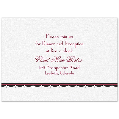 Simply Elegant - Reception Card