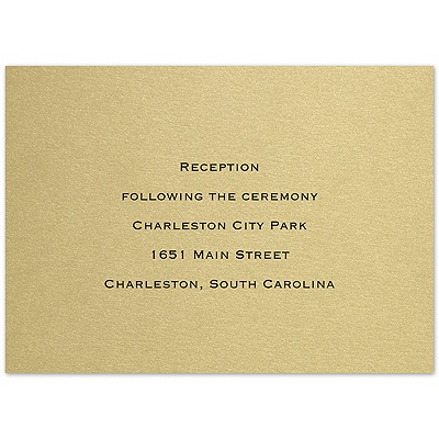 Precious Elegance - Reception Card