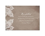 Vintage Lace - Reception Card
