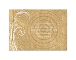 Woodgrain Circle - Reception Card