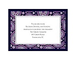 Perfect Paisley Duet - Lapis - Reception Card