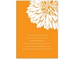 Burst of Love - Tangerine - Reception Card