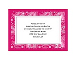 Perfect Paisley - Watermelon - Reception Card