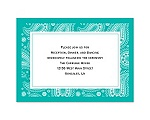 Perfect Paisley - Mermaid - Reception Card