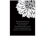 Burst of Love - Black - Reception Card
