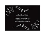 Photo and Swirls - Black  - Reception Card