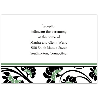 Floral Border - Clover - Reception Card