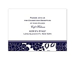 Floral Patterned - Lapis - Reception Card