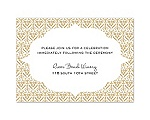 Layers of Color- Golden - Reception Card