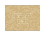 Treasured Jewels Pattern - Golden - Reception Card