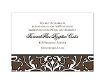 Indulgence - Chocolate - Reception Card