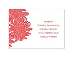 Glorious Blooms - Reception Card