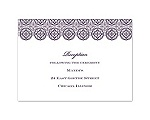 Monogram Pattern - Reception Card