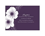 Two of Us - Plum - Reception Card
