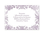 Treasured Jewels - Washed Filigree - Reception Card