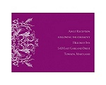 Enchanted Color -Sangria - Reception Card