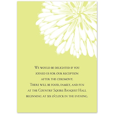 Burst of Love - Key Lime - Reception Card