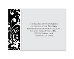 Forever Color - Black - Reception Card