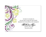 Watercolor Floral - Sangria - Reception Card