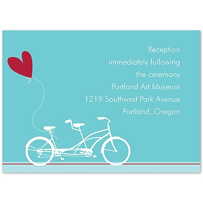 Bicycle Built For Two - Reception Card
