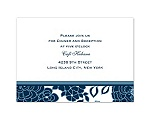 Floral Patterned - Peacock - Reception Card