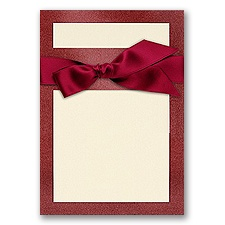 Treasured Gems - Garnet & Ecru - DIY Invitation Kit