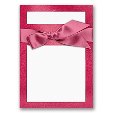 Treasured Gems - Hot Pink & Bright White - DIY Invitation Kit