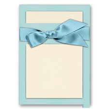 Treasured Gems - Blue Topaz & Ecru - DIY Invitation Kit