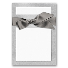 Treasured Gems - Silver Quartz & Bright White - DIY Invitation Kit