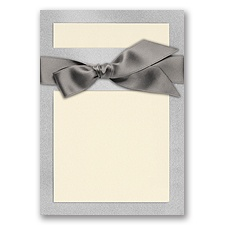 Treasured Gems - Silver Quartz & Ecru - DIY Invitation Kit