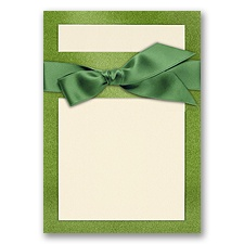 Treasured Gems - Green Topaz & Ecru - DIY Invitation Kit