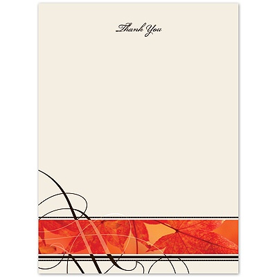 Autumn Glory - Thank You Card and Envelope