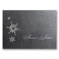 Shimmering Snowfall - Onyx Shimmer - Thank You Card and Envelope